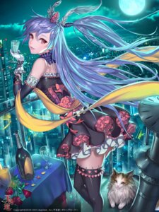 Rating: Safe Score: 80 Tags: dress furyou_michi_~gang_road~ neko ozma_(ozmakku) thighhighs User: Mr_GT