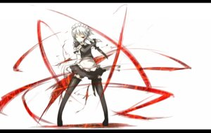 Rating: Safe Score: 43 Tags: izayoi_sakuya maid shirogane_usagi thighhighs touhou User: Rhekshi-Ehki