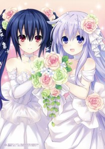 Rating: Safe Score: 36 Tags: choujigen_game_neptune choujigen_game_neptune_re;birth_2_sisters_generation dress nepgear noire tsunako wedding_dress User: Radioactive