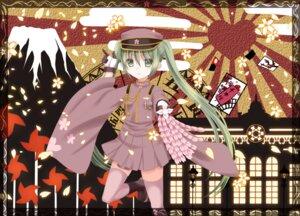 Rating: Safe Score: 14 Tags: hatsune_miku ikeda_yuuki senbon-zakura_(vocaloid) thighhighs uniform vocaloid User: ddns001