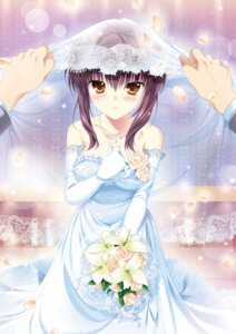 Rating: Questionable Score: 23 Tags: breast_hold digital_version dress mikeou root√double_-before_crime*after_days- tachibana_kazami tagme wedding_dress User: Twinsenzw