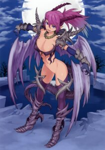 Rating: Questionable Score: 39 Tags: armor bottomless cleavage erect_nipples heels horns nakatomi_ryou pointy_ears tail tattoo thighhighs wings User: Bulzeeb
