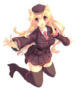 Rating: Safe Score: 13 Tags: animal_ears kinoko thighhighs User: fairyren