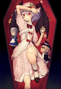 Rating: Safe Score: 45 Tags: bloomers devil dress izayoi_sakuya kirisame_marisa lolita_fashion maid misoni_comi remilia_scarlet thighhighs touhou wings witch User: zero|fade