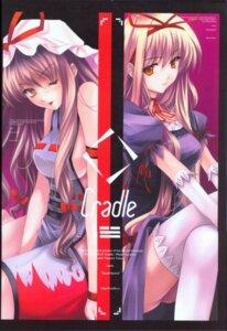 Rating: Safe Score: 24 Tags: cradle lolita_fashion misaki_kurehito thighhighs touhou yakumo_yukari User: Davison