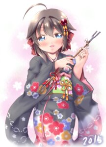 Rating: Safe Score: 10 Tags: japanese_clothes kanon_(kurogane_knights) kantai_collection shigure_(kancolle) User: Mr_GT