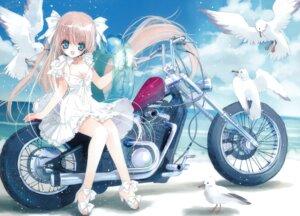 Rating: Safe Score: 24 Tags: cleavage dress fixed hato_no_tamago heels rami summer_dress User: Tsumikiria