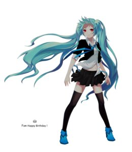 Rating: Safe Score: 27 Tags: hatsune_miku lightofheaven thighhighs vocaloid User: charunetra