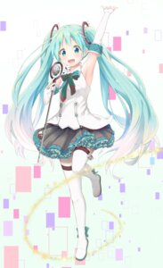 Rating: Safe Score: 34 Tags: hatsune_miku kanchan_(kanchan220) thighhighs vocaloid User: Mr_GT
