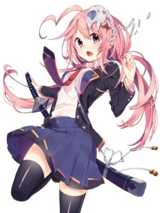 Rating: Safe Score: 42 Tags: sakuragi_ren seifuku sword thighhighs User: Mr_GT