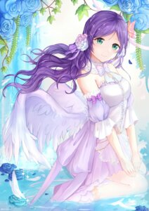Rating: Safe Score: 49 Tags: dress love_live! oretsuu toujou_nozomi wet wings User: Mr_GT
