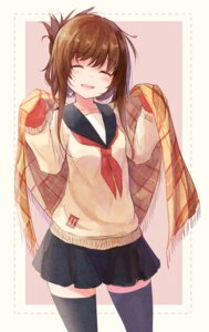 Rating: Safe Score: 46 Tags: inazuma_(kancolle) kantai_collection seifuku sweater thighhighs youjo User: Mr_GT