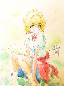 Rating: Safe Score: 7 Tags: koi_wa_ameagari_no_you_ni nishida_yui seifuku sketch tagme User: Spidey