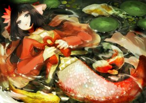 Rating: Safe Score: 20 Tags: japanese_clothes mermaid monster_girl okometani wet User: Mr_GT