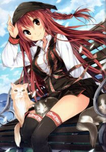Rating: Safe Score: 58 Tags: kuwashima_rein neko thighhighs User: 椎名深夏