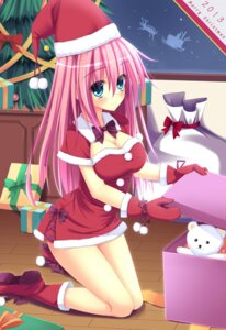 Rating: Safe Score: 42 Tags: christmas cleavage nanairo_fuusen User: blooregardo