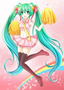 Rating: Safe Score: 24 Tags: animal_ears cheerleader cleavage hatsune_miku nekomimi nikoo thighhighs vocaloid User: TassadaR