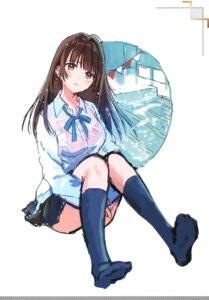 Rating: Questionable Score: 19 Tags: bra feet hanekoto see_through seifuku sweater tagme wet_clothes User: Radioactive