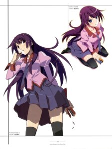 Rating: Safe Score: 35 Tags: bakemonogatari seifuku senjougahara_hitagi stockings thighhighs watanabe_akio User: drop