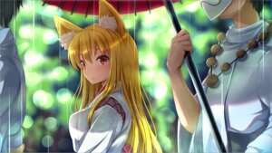 Rating: Safe Score: 26 Tags: animal_ears kitsune miko nicoby umbrella wallpaper User: mash