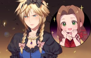 Rating: Safe Score: 7 Tags: aerith_gainsborough cloud_strife crossdress final_fantasy final_fantasy_vii hmniao User: Mr_GT
