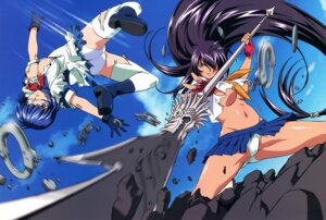 Rating: Questionable Score: 22 Tags: ass cleavage eyepatch heels ikkitousen ikkitousen~dragon_destiny~ kanu_unchou maid miyazawa_tsutomu no_bra pantsu ryomou_shimei seifuku thighhighs torn_clothes underboob weapon User: Radioactive