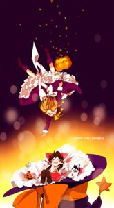 Rating: Safe Score: 10 Tags: hakurei_reimu halloween kirisame_marisa miko touhou yonu User: Radioactive