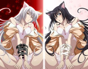 Rating: Questionable Score: 62 Tags: animal_ears bakemonogatari black_hanekawa bondage bra cleavage hanekawa_tsubasa isse megane nekomimi open_shirt pantsu User: Radioactive