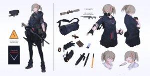 Rating: Safe Score: 10 Tags: bandaid character_design gun megane mivit User: Dreista