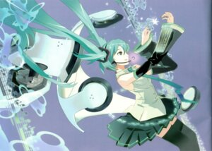 Rating: Safe Score: 10 Tags: 119 binding_discoloration hatsune_miku thighhighs vocaloid User: withul