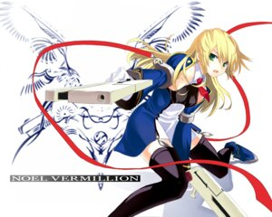 Rating: Safe Score: 41 Tags: blazblue gun noel_vermillion rakupi thighhighs User: fairyren
