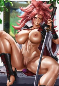 Rating: Explicit Score: 41 Tags: anal anal_beads anus baiken breasts dandon_fuga guilty_gear heels japanese_clothes nipples no_bra nopan open_shirt pussy sword tattoo uncensored User: Qpax