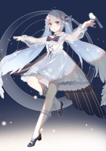 Rating: Safe Score: 32 Tags: dress freeze hatsune_miku heels vocaloid yuki_miku User: Mr_GT