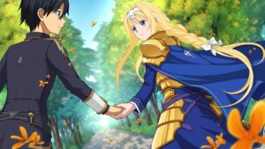 Rating: Safe Score: 13 Tags: alice_schuberg armor dress game_cg kirito sword_art_online sword_art_online_alicization_lycoris tagme User: godzillakari