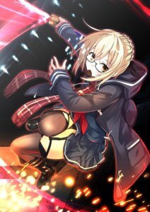 Rating: Safe Score: 16 Tags: fate/grand_order heroine_x_alter megane saiki_rider seifuku stockings thighhighs User: nphuongsun93