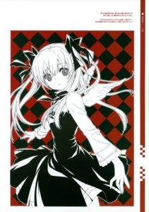 Rating: Safe Score: 33 Tags: angel dmyo dogs dress monochrome nill snow_ring wings User: midzki