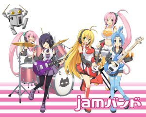 Rating: Safe Score: 17 Tags: amane_kana cleavage guitar headphones jam_band mitarashi_marie pantyhose robota tagme thighhighs tsurumaki_maki tsutsumi_kanon tsutsumi_rizumu User: saemonnokami