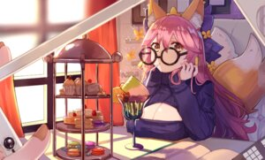 Rating: Safe Score: 32 Tags: animal_ears caster_(fate/extra) cleavage fate/grand_order megane ryuuno6 sweater tail User: nphuongsun93