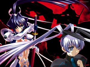 Rating: Safe Score: 15 Tags: bodysuit bou mitsurugi_meiya muvluv muvluv_alternative sword wallpaper yashiro_kasumi User: noirblack