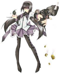 Rating: Safe Score: 4 Tags: akemi_homura gun ku-ba pantyhose puella_magi_madoka_magica User: Radioactive