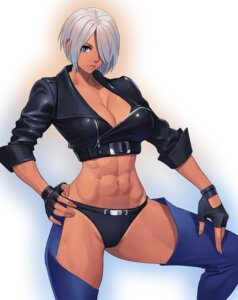Rating: Questionable Score: 19 Tags: angel_(kof) cleavage king_of_fighters ogami pantsu User: Genex