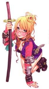 Rating: Safe Score: 19 Tags: cleavage megane sword yamashita_shunya User: Radioactive