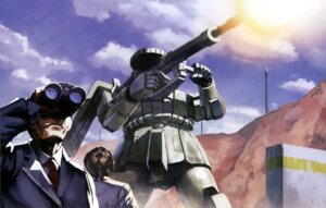 Rating: Safe Score: 5 Tags: gun gundam male mecha mobile_suit_gundam ms-06_zaku_ii weapon User: drop