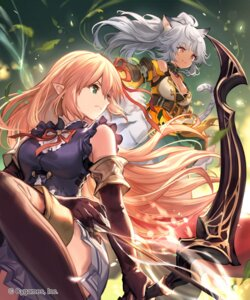 Rating: Safe Score: 26 Tags: animal_ears arisa_(shadowverse) cleavage lee_hyeseung pointy_ears shadowverse skirt_lift tail thighhighs weapon User: Mr_GT