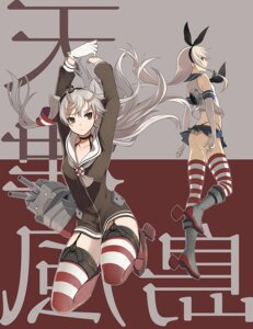 Rating: Questionable Score: 38 Tags: amatsukaze_(kancolle) ass harano kantai_collection pantsu shimakaze_(kancolle) stockings thighhighs thong User: Radioactive