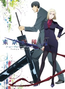 Rating: Safe Score: 25 Tags: amon_koutarou business_suit heels mado_akira pantyhose tokyo_ghoul weapon User: akagiss