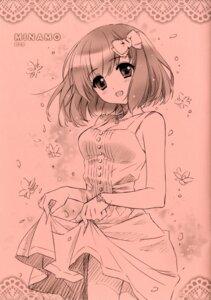 Rating: Questionable Score: 21 Tags: carnelian cleavage dress monochrome skirt_lift User: anoyoroshi