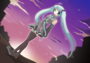 Rating: Safe Score: 5 Tags: hatsune_miku karinsama thighhighs vocaloid User: yumichi-sama