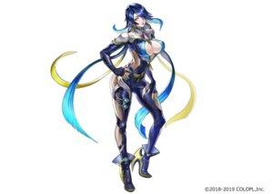 Rating: Questionable Score: 18 Tags: armor bodysuit cleavage heels no_bra open_shirt saihate_no_babel tagme User: saemonnokami