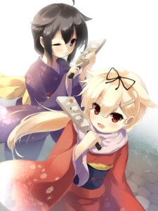 Rating: Safe Score: 14 Tags: gen-getsu kantai_collection kimono shigure_(kancolle) yuudachi_(kancolle) User: Mr_GT